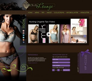 A concept design for The Bra Lounge website. Concept and design.
