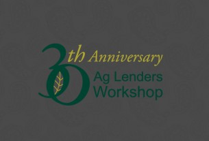 A 30th Anniversary logo designed for the Ag lenders workshop at Olds College. Concept and design.